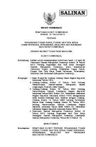 BUPATI PURWOREJO PERATURAN BUPATI PURWOREJO NOMOR : 91 TAHUN 2013 TENTANG
