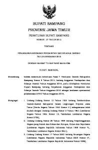 BUPATI SAMPANG PROVINSI JAWA TIMUR