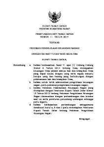 BUPATI TANAH DATAR PROVINSI SUMATERA BARAT PERATURAN BUPATI TANAH DATAR NOMOR 11 TAHUN 2014 TENTANG PEDOMAN PENGELOLAAN KEUANGAN NAGARI