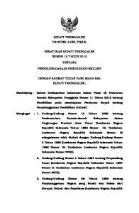BUPATI TRENGGALEK PROVINSI JAWA TIMUR PERATURAN BUPATI TRENGGALEK NOMOR 15 TAHUN 2015 TENTANG PENYELENGGARAAN PENDIDIKAN INKLUSIF