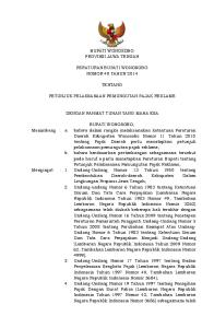 BUPATI WONOSOBO PROVINSI JAWA TENGAH PERATURAN BUPATI WONOSOBO NOMOR 40 TAHUN 2014 TENTANG PETUNJUK PELAKSANAAN PEMUNGUTAN PAJAK REKLAME