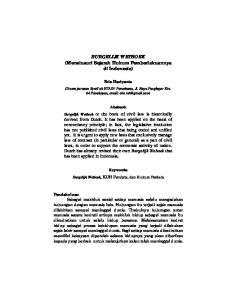BURGELIJK WETBOEK (Menelusuri Sejarah Hukum Pemberlakuannya di Indonesia)