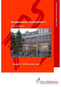 Burgermeester Boreelstraat 11 H a a r l e m