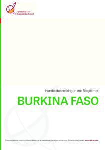 BURKINA FASO. Handelsbetrekkingen van België met