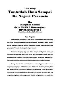 By: Marjohan Usman Guru SMAN 3 Batusangkar HP Ranti Komala Dewi (Co-Writer)