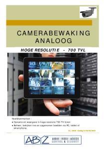 CAMERABEWAKING ANALOOG