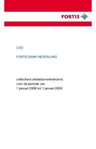 CAO FORTIS BANK NEDERLAND