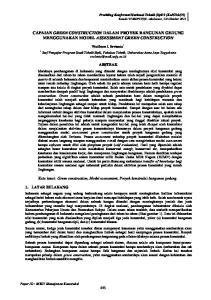 CAPAIAN GREEN CONSTRUCTION DALAM PROYEK BANGUNAN GEDUNG MENGGUNAKAN MODEL ASSESSMENT GREEN CONSTRUCTION