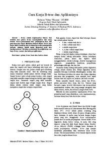 Cara Kerja B-tree dan Aplikasinya