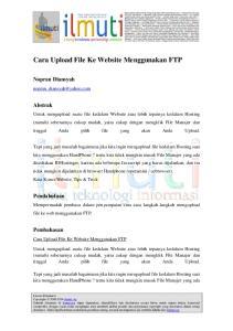 Cara Upload File Ke Website Menggunakan FTP
