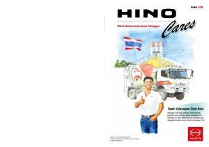 Cares. Topik: Dukungan Total Hino. Merek Global untuk semua Pelanggan. Edisi 026