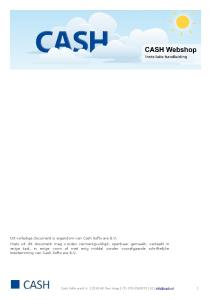 Cash Software B.V AD Den Haag (T) (E) 1
