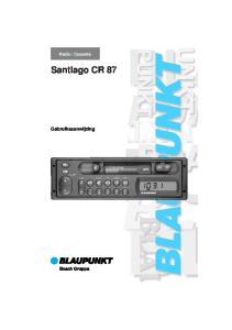 Cassette. Santiago CR 87. Gebruiksaanwijzing