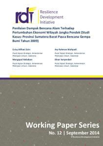 Ceisy Alifiani Zein. Ary Rahman Wahyudi. Mangapul Nababan. Dinar Suryandari. Pusat Kajian Strategis, Kementerian Pekerjaan Umum, Indonesia