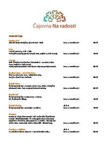 Ceylon O.P. Základní černý indický čaj, výrazné chuti i vůně. Cena za konvičku 0,4 l 50 Kč