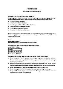 CHAPTER 6 FUNGSI PADA MYSQL