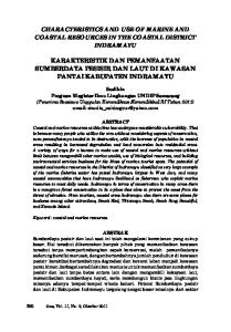 CHARACTERISTICS AND USE OF MARINE AND COASTAL RESOURCES IN THE COASTAL DISTRICT INDRAMAYU