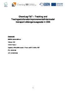 ChemLog-T&T Tracking and Tracingsolutionsforimprovementofintermodal transport ofdangerousgoods in CEE