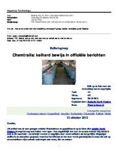 Chemtrails: keihard bewijs in officiële berichten
