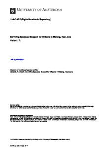 Citation for published version (APA): Marianti, R. (2002). Surviving Spouses: Support for Widows in Malang, East Java