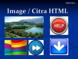 Citra HTML. Materi ke 4