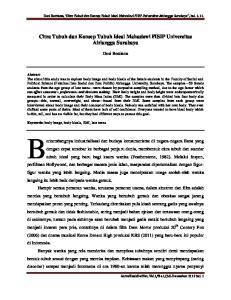 Citra Tubuh dan Konsep Tubuh Ideal Mahasiswi FISIP Universitas Airlangga Surabaya