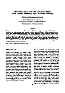 CLOCK DRAWING: ASESMEN UNTUK DEMENSIA (Studi Deskriptif pada Orang Lanjut Usia Di Kota Semarang)