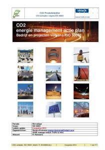 CO2 energie management actie plan Bedrijf en projecten volgens ISO 50001