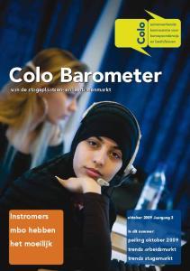 Colo Barometer van de stageplaatsen- en leerbanenmarkt
