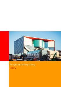 Colofon. Programmabegroting Uitgave Gemeente Utrecht. Drukwerk RICOH NEDERLAND