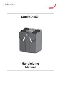 ComfoD 550 Handleiding Manuel