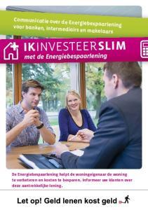 Communicatie over de Energiebespaarlening voor banken, intermediairs en makelaars
