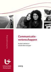 Communicatiewetenschappen