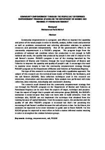 COMMUNITY EMPOWERMENT THROUGH THE PEOPLE SALT ENTERPRISES EMPOWERMENT PROGRAM (PUGAR) ON THE DEPARTMENT OF MARINE AND FISHERIES AT PAMEKASAN REGENCY