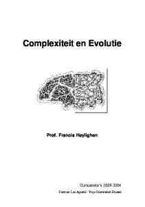 Complexiteit en Evolutie
