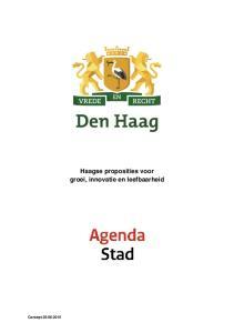 Concept Haagse proposities voor groei, innovatie en leefbaarheid