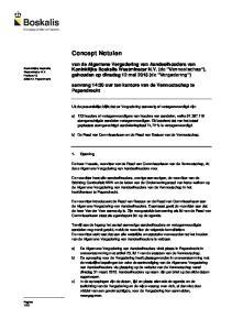 Concept Notulen. aanvang 14:30 uur ten kantore van de Vennootschap te Papendrecht