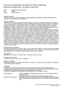 Concept Verslag Buitengewone Algemene Leden Vergadering Nederlandse Rugby Bond, zaterdag 14 maart 2015