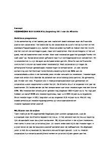 Concept VOORWOORD BESTUURDER bij begroting 2011 van de Alliantie