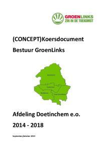 (CONCEPT)Koersdocument Bestuur GroenLinks