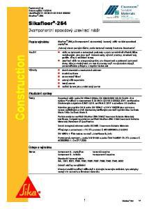 Construction. 2komponentní epoxidový uzavírací nátěr. Popis výrobku. Zkušební zprávy. Údaje o výrobku