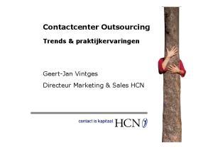 Contactcenter Outsourcing Trends & praktijkervaringen