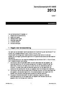 Correctievoorschrift HAVO 2013