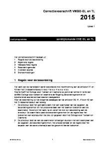 Correctievoorschrift VMBO-GL en TL