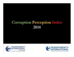 Corruption Perception Index 2014