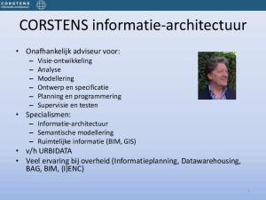 CORSTENS informatie-architectuur