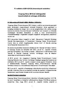 Csepreg Város 2013.évi költségvetési beszámolójának szöveges értékelése