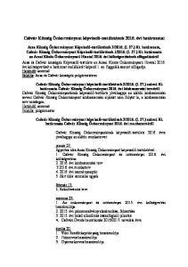 Csővár Község Önkormányzat képviselő-testületének évi határozatai