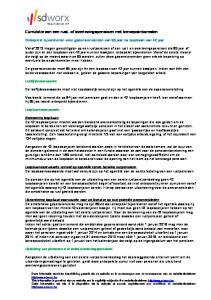 Cumulatie van een rust- of overlevingspensioen met beroepsinkomsten
