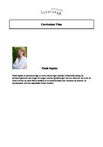 Curriculum Vitae Paula Ingelse